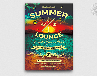 Summer Lounge Flyer Template V3