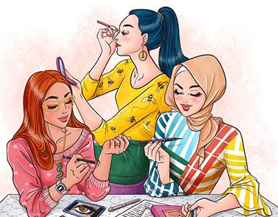 dUCK Cosmetics illustration