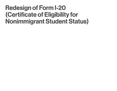 Redesign of Form I-20