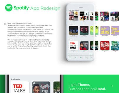 Spotify App Redesign