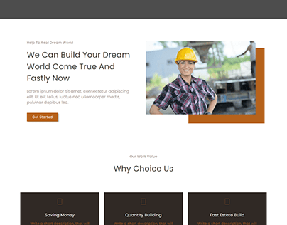 Restate - Construction Builder Elementor Template Kit