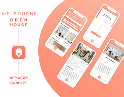 Melbourne Open House Event App Concept Design
