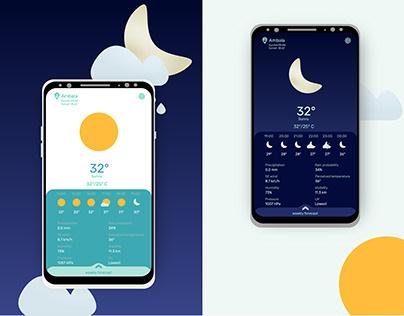 Weather Mobile App UI Design