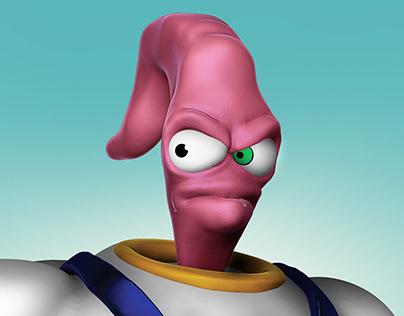 Earthworm Jim - ZBrush Sculpture
