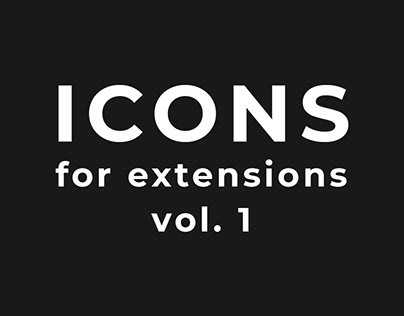 Icons for extensions vol. 1