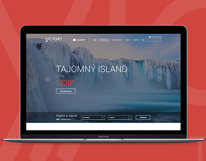 Victory travel website redesign