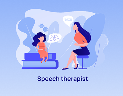 Landing page for speech therapist