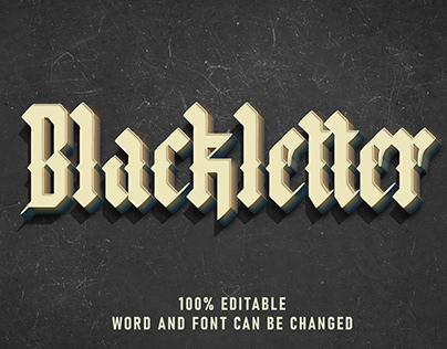 Blackletter Text Effect