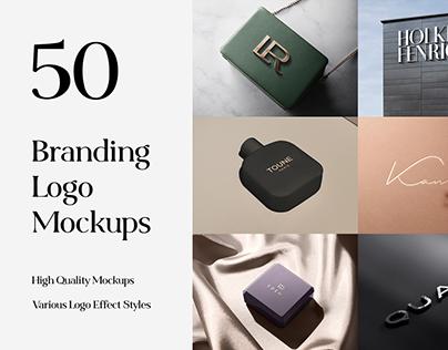 50 Logo Mockup Branding Bundle - V4 - PSD