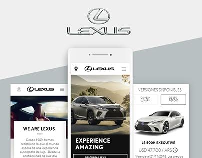 Lexus-Toyota | Diseño UX UI