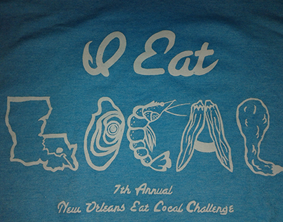 New Orleans Eat Local challenge t-shirt