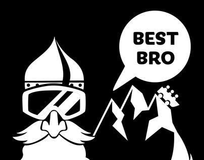 Best Bro & Top Gal