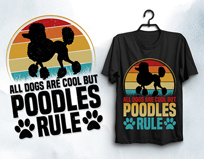 Poodles Dog Lover T-Shirt Design