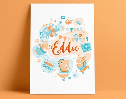 Illustration & design of Postcard, stickers, tote bag.