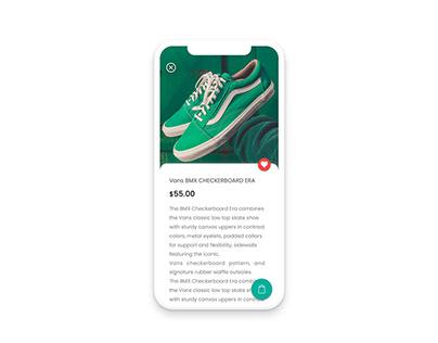Detail product e-commerce mobile app