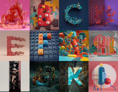 36 DAYS OF TYPE in 3D   2020
