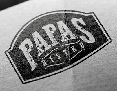 Papas Bistro Logo Design