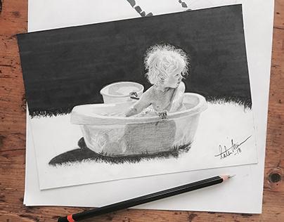 Graphite drawing - Alva