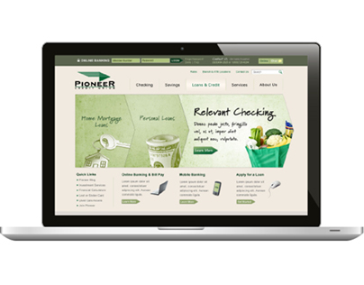 Pioneer Credit Union website