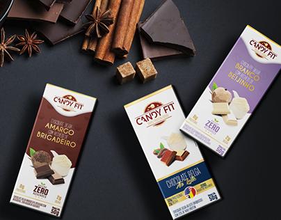 Candy Fit Chocolates -Design de Embalagem