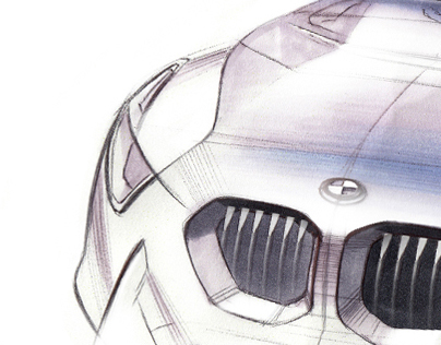 BMW Luxury Coupe Sketches