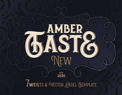 Amber Taste New! Font and Template