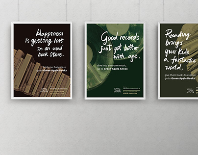 Green Apple bookstore // Branding