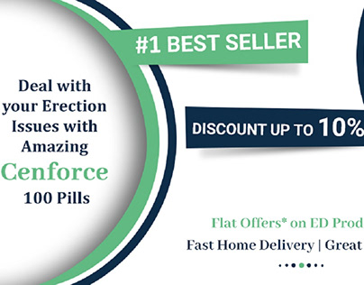 Solve Erections with Cenforce 100 - 3D Offer Banner