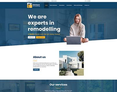 Bold Home Remodelling - Website Design