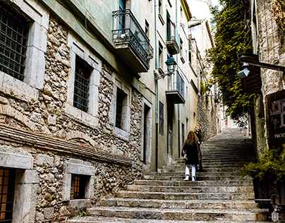Stairs of the Pear - Girona