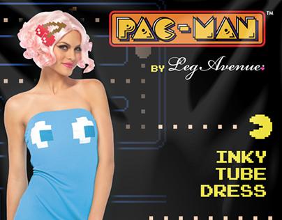Pac-Man Costume & Hosiery Packaging