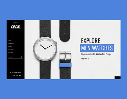 ASOS Watches Concept Landing Page