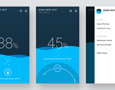 Water Tracker app - Concept Design