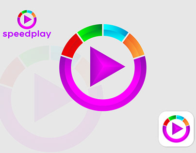 Speed play brand logo design with full copyright