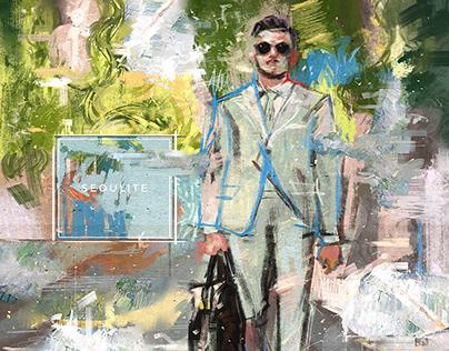 Fashion Illustration for Gentlemen in Seoul