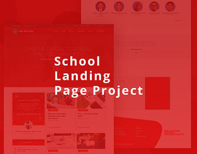 School Landing Page Project