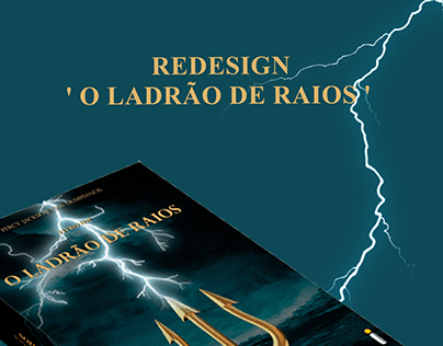 ' O Ladrão de Raios ' I Redesign da capa