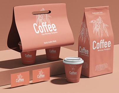 Coffee Branding Design Mockup Download, Branding Design