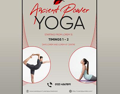 Yoga Poster Printable Design