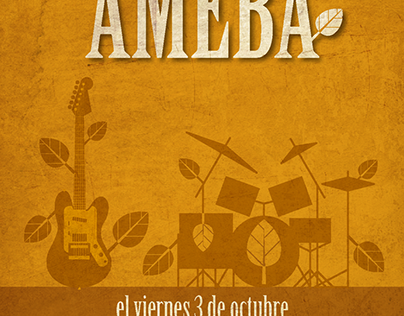 Cartel Concierto Ameba