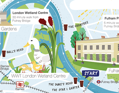 London Boat Race Map