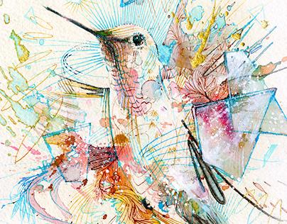 1000 Beats per minute - Hummingbird Print