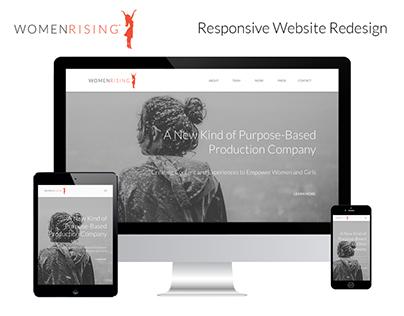 Women Rising Responsive Site Redesign