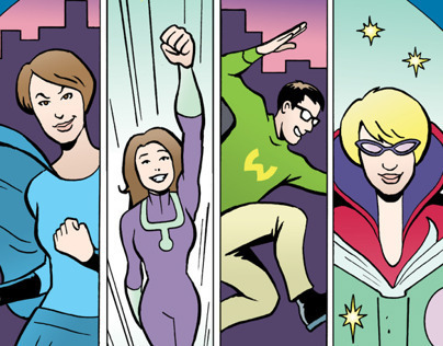 Cengage's Librarian Superhero - promo comic book