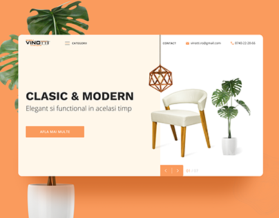Vinotti Furniture home page