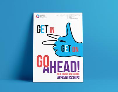 Poster advertising apprenticeships