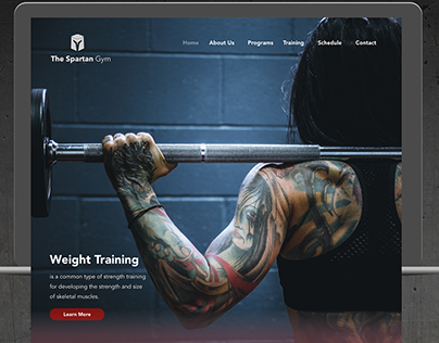 Gym Website Homepage