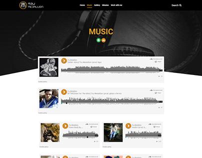 Musician portfolio website - Moses Med