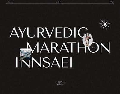 Landing page for ayurvedic online-marathon