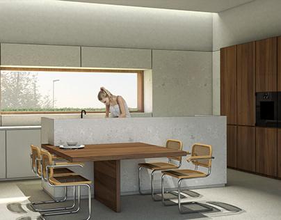 Stone & Wood Kitchen@Venice